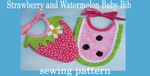 Strawberry and Watermelon Baby Bib