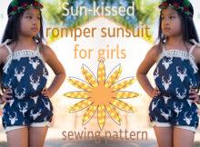 Sun-kissed romper sunsuit for girls