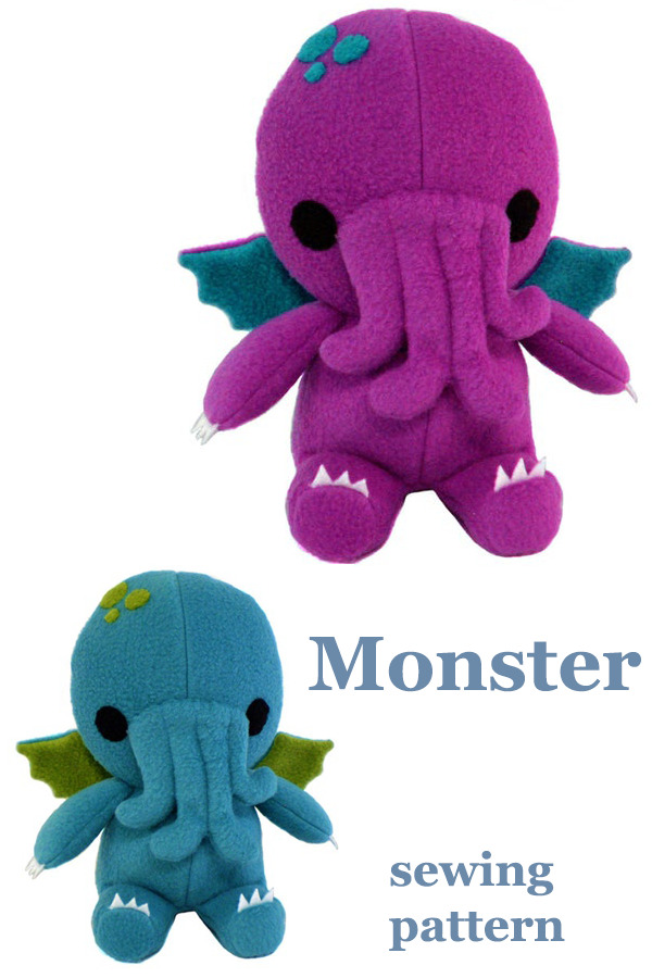 Monster sewing pattern