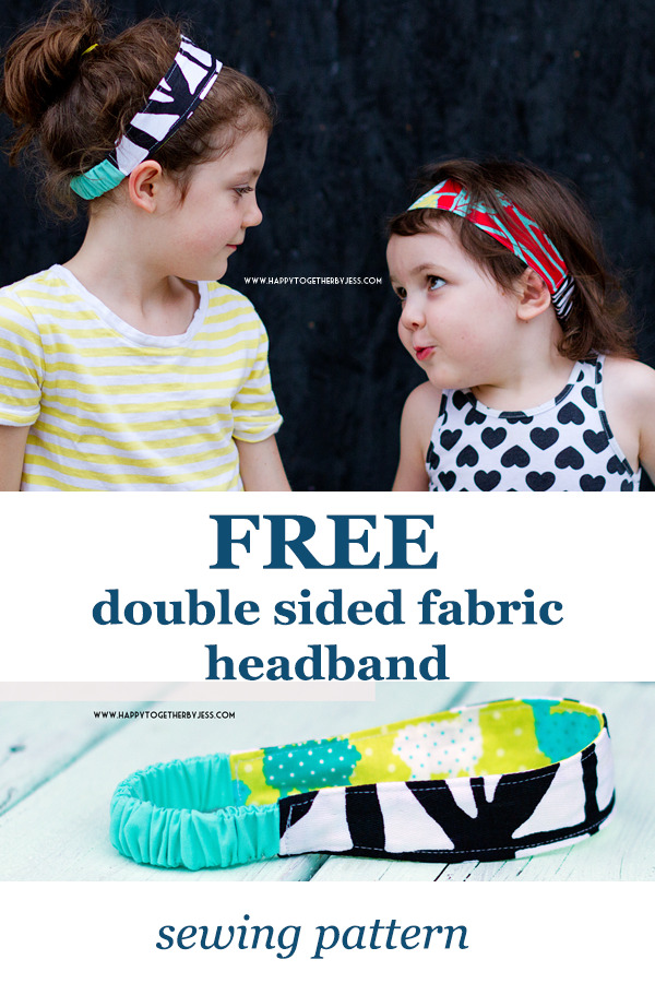 FREE double-sided fabric headband sewing pattern