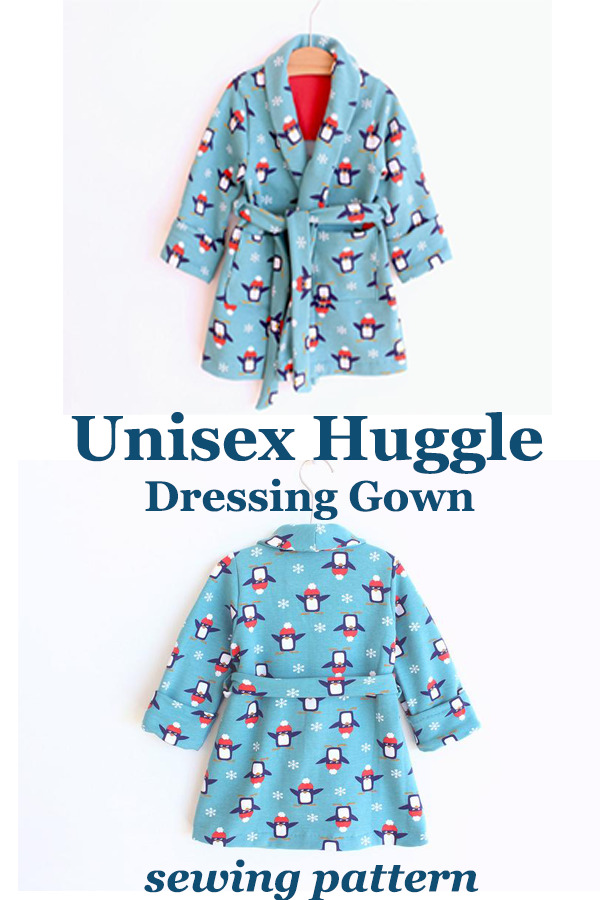 Unisex Huggle Dressing Gown sewing pattern