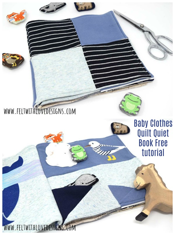Baby Clothes Quilt Quiet Book Free tutorial