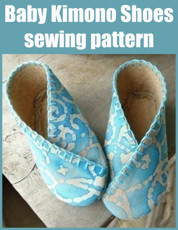 Sewing pattern for Baby Kimono Shoes