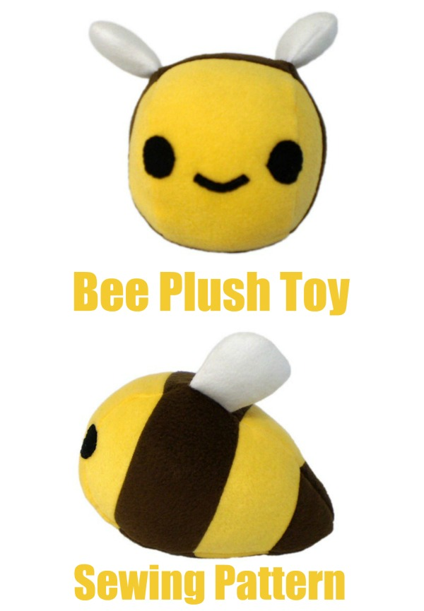 Bee Plush Toy sewing pattern