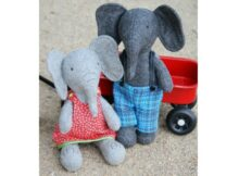 Elephant softie toy sewing pattern