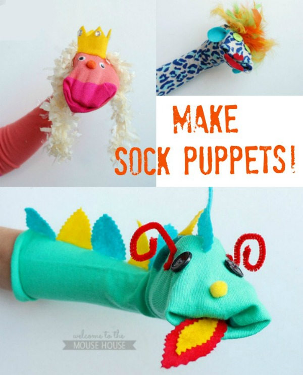 FREE ideas for how to make sock puppets