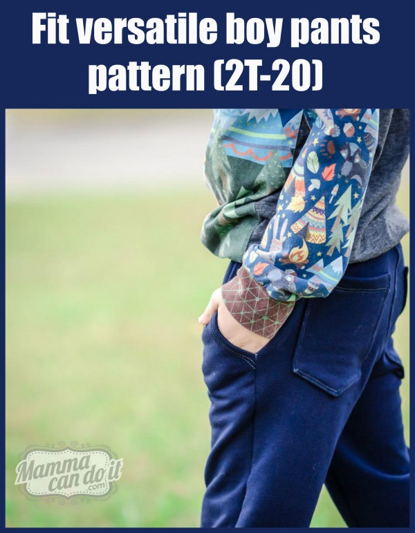 Fit versatile boy pants pattern (2T-20).