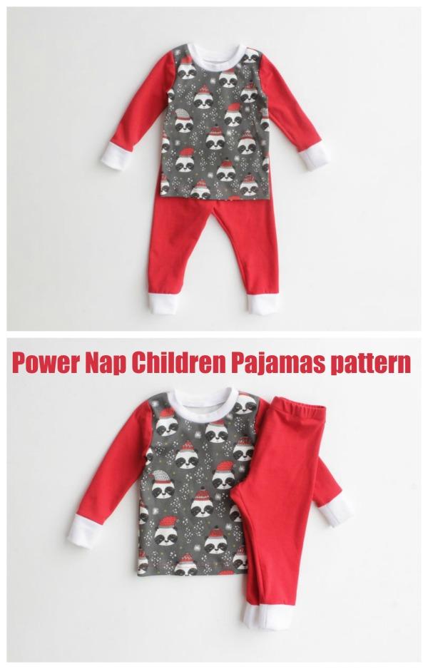 Power Nap Children Pajamas pattern