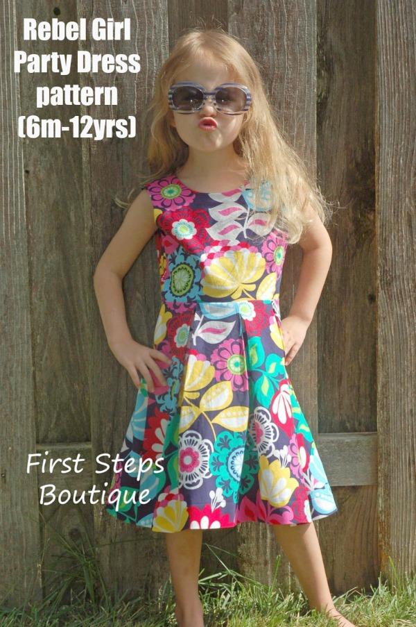 Rebel Girl Party Dress pattern (6m-12yrs)