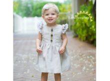 Vintage Grace flutter dress and top pattern (6m-12yrs)