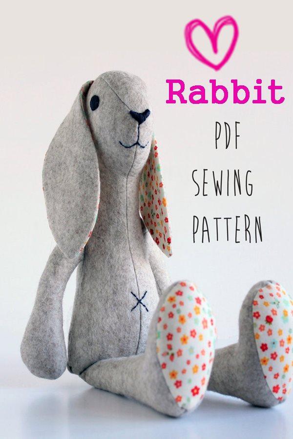 Rabbit sewing pattern