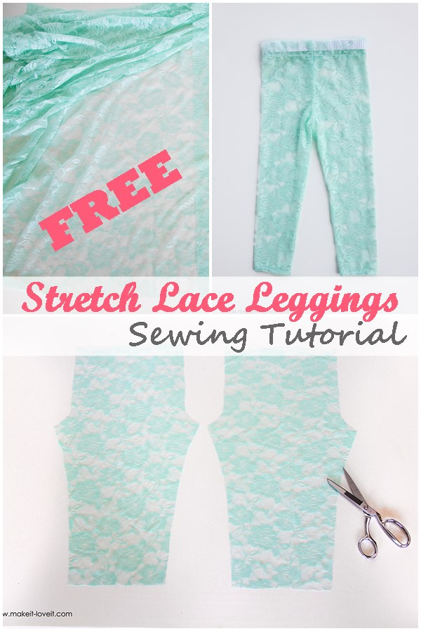 FREE stretch lace leggings tutorial