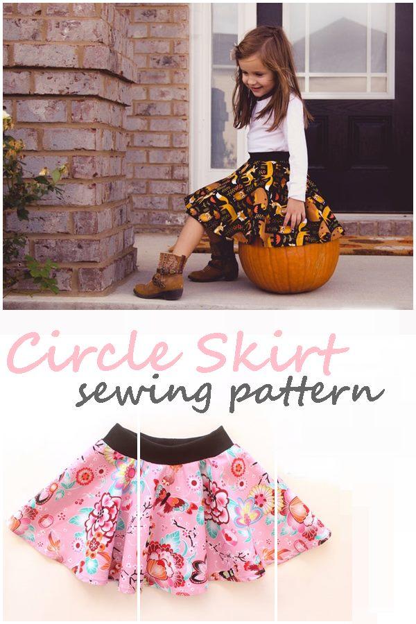 Circle skirt sewing pattern