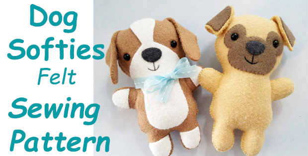 Dog Softies Felt Sewing Pattern