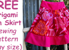 FREE Origami Fan Skirt sewing pattern (any size)