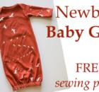 Newborn Baby Gown FREE pattern