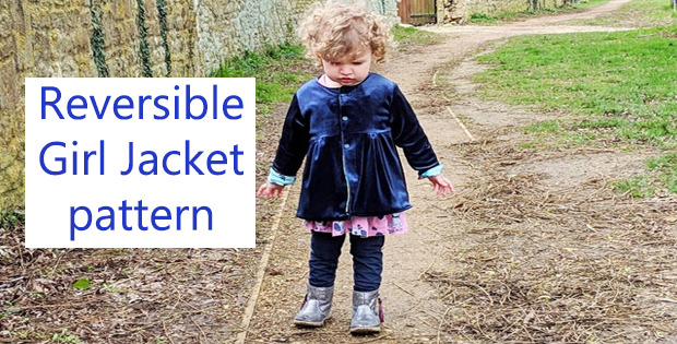 Reversible Girl Jacket pattern for newborns to 10 yrs.