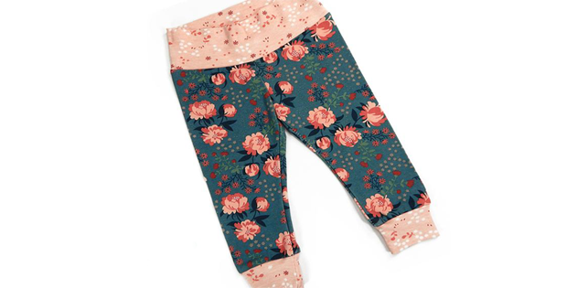 A no elastic waistband pant with cuffs pattern