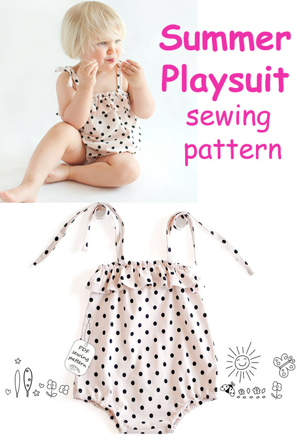 Summer Playsuit sewing pattern