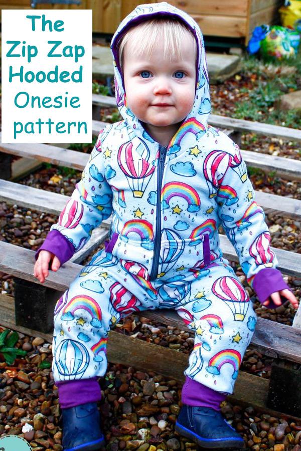 The Zip Zap Hooded Onesie pattern