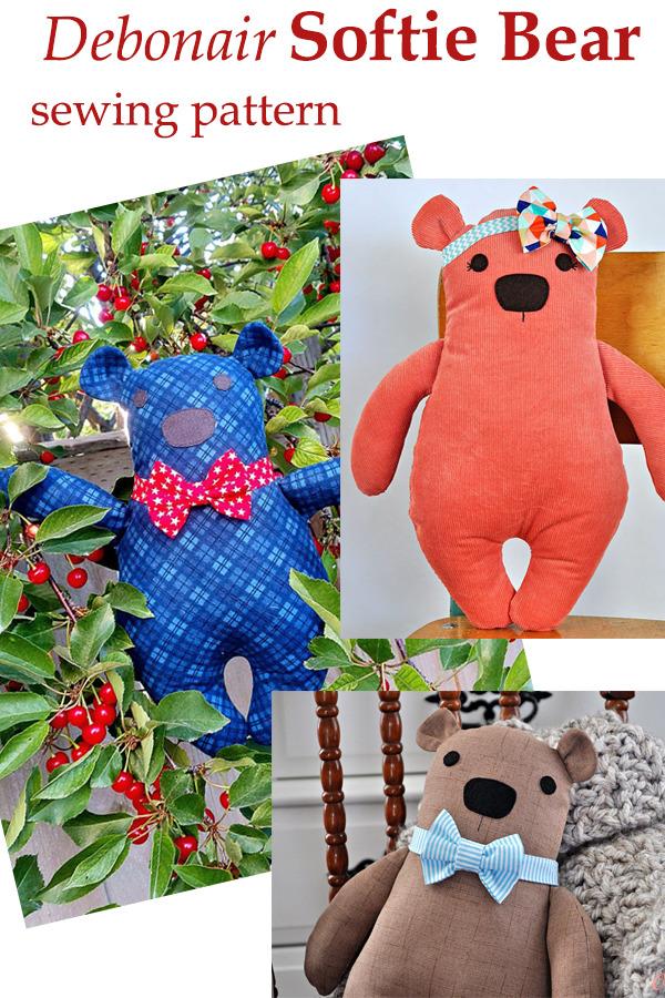 Debonair Softie Bear pattern
