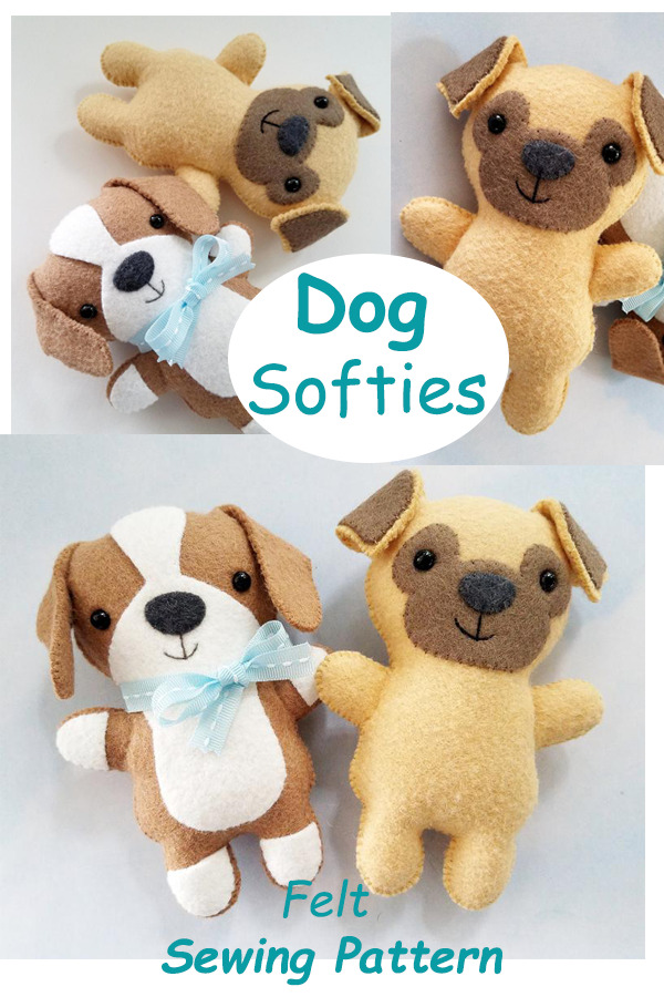 Dog Softies Felt Sewing Pattern