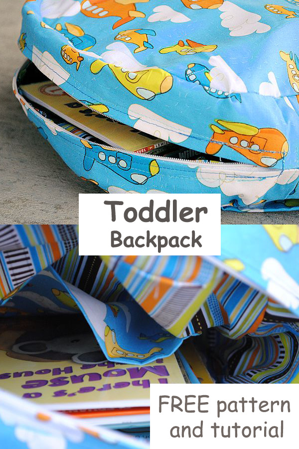 Toddler Backpack FREE pattern and tutorial