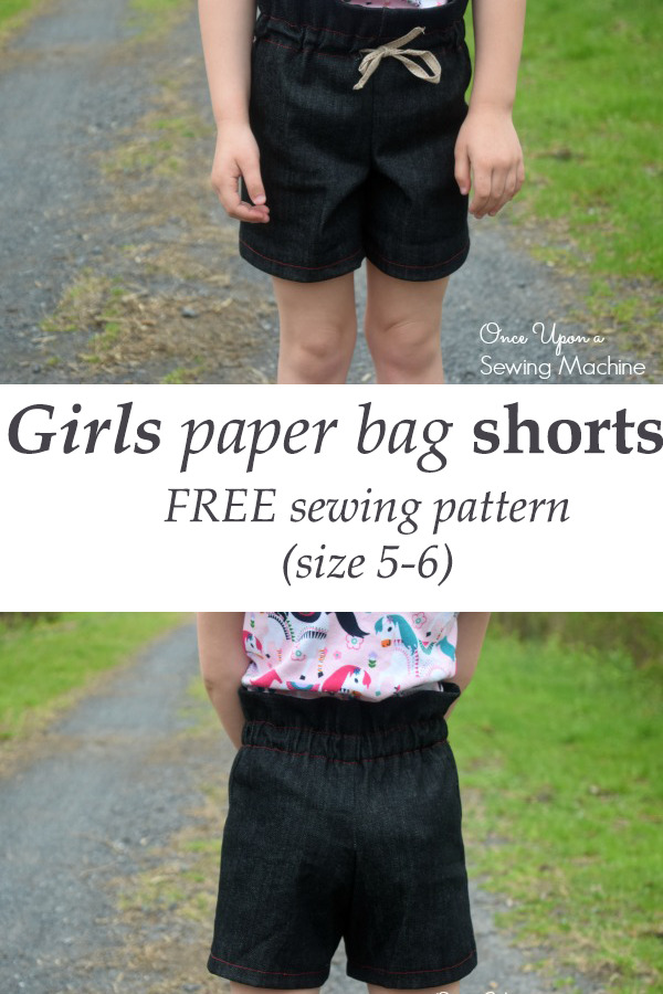 Girls paper bag shorts FREE (size 5-6)