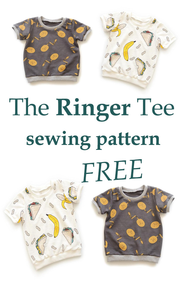 The Ringer Tee FREE sewing pattern