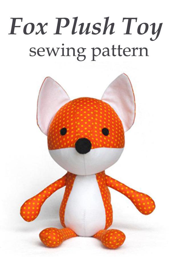 Fox Plush Toy sewing pattern