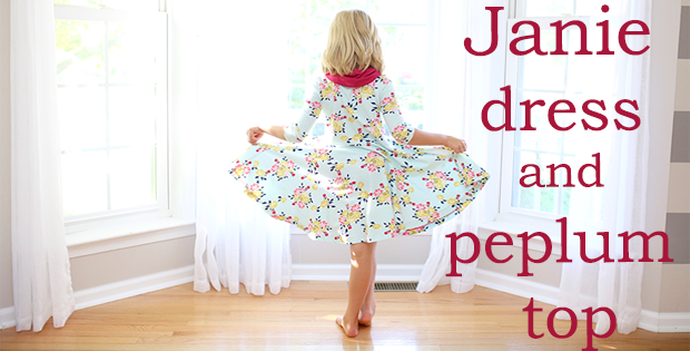 Janie dress and peplum top sewing pattern (6mths-12yrs)