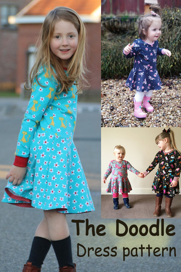 Sewing pattern for the Doodle Dress