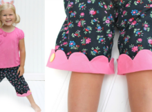 FREE Kipper girls capri pants sewing pattern