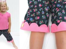 FREE Kipper girls capri pants sewing pattern