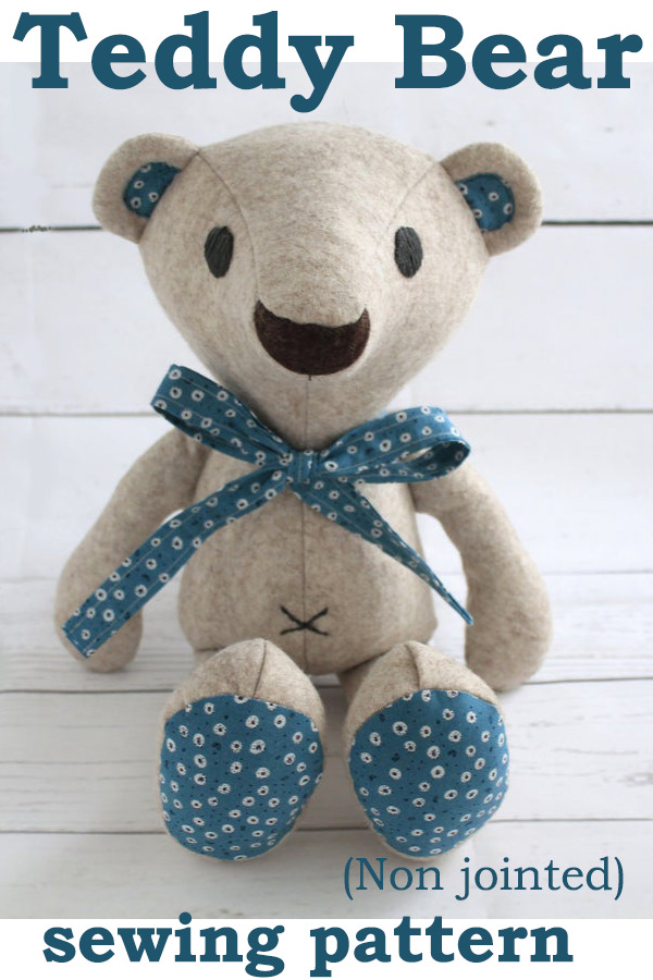 Teddy Bear (Non jointed) sewing pattern