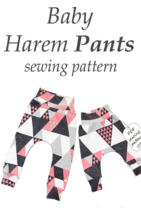 Baby Harem Pants sewing pattern