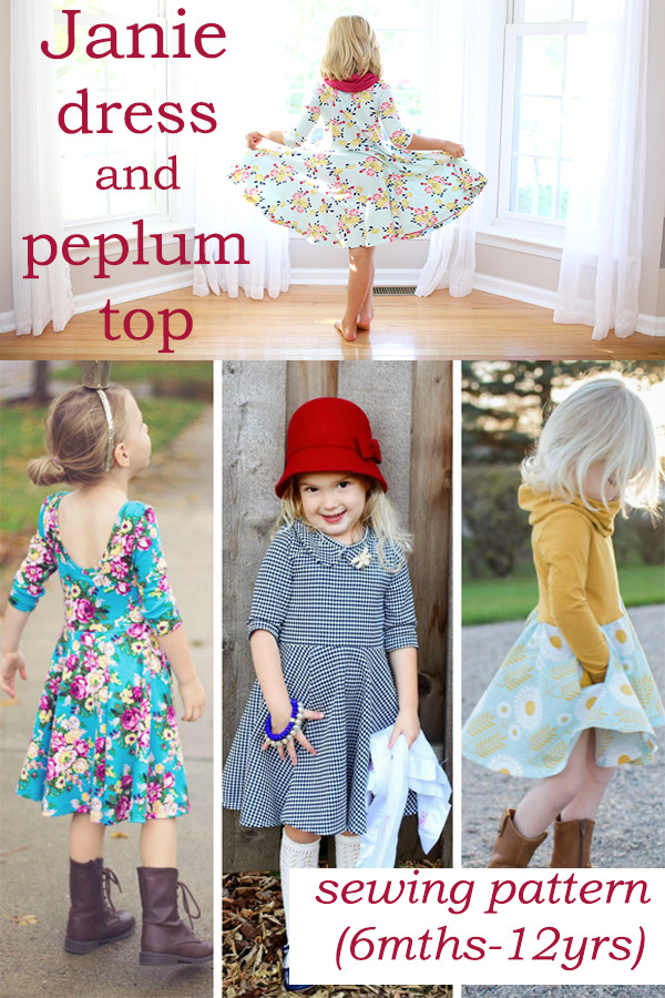 Janie dress and peplum top sewing pattern (6mths-12yrs)