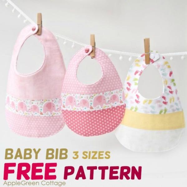 The Best Free Baby Bib Pattern in 3 Sizes