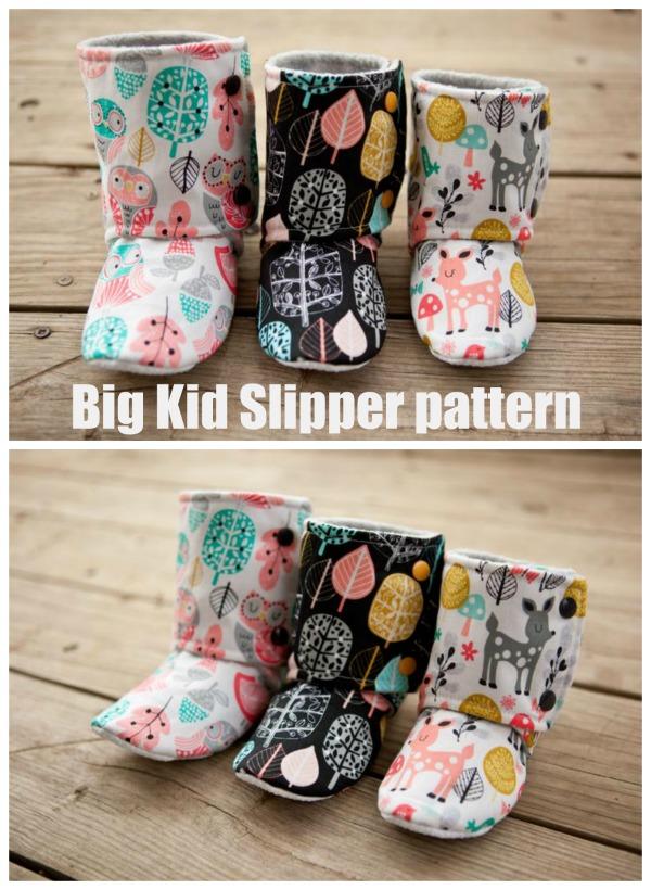 Big Kid Slipper pattern