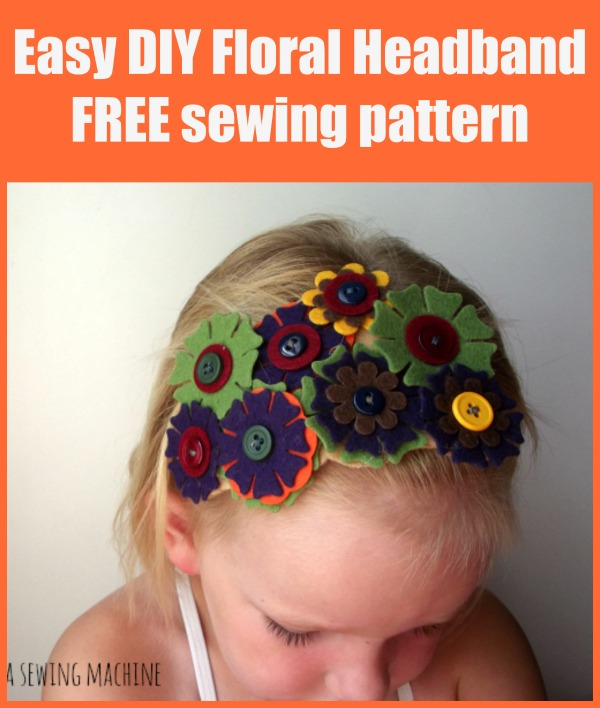 Easy DIY Floral Headband FREE sewing pattern