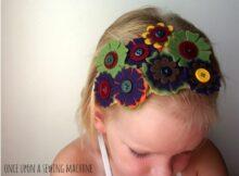 Easy DIY Floral Headband FREE sewing pattern