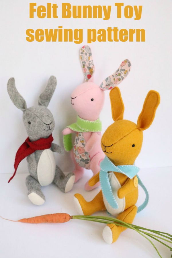 Felt Bunny Toy sewing pattern