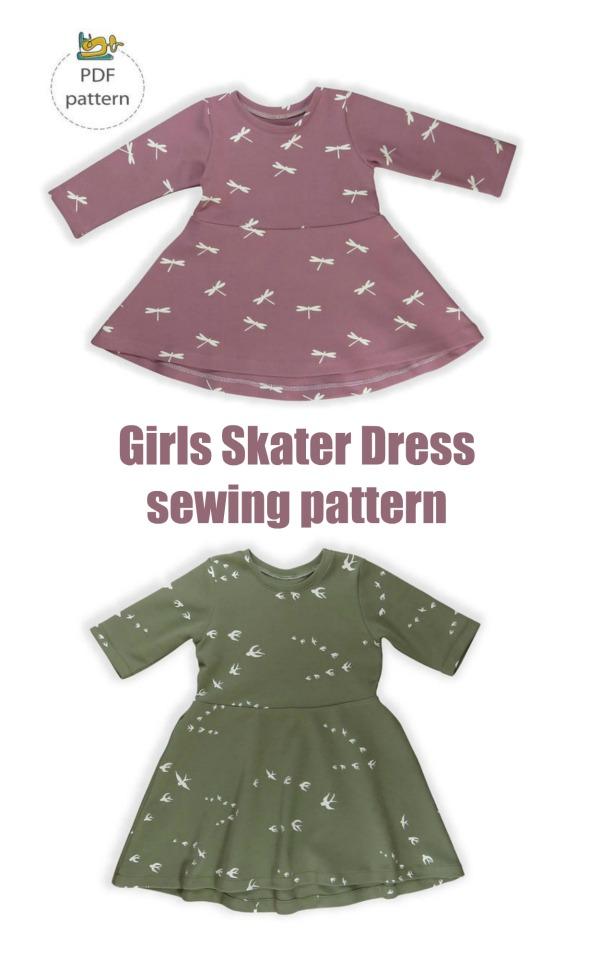 Girls Skater Dress sewing pattern