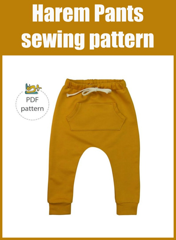 Harem Pants sewing pattern