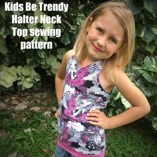 Kids Be Trendy Halter Neck Top sewing pattern