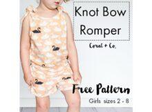 Knot Bow Romper Free pattern