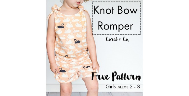 Knot Bow Romper Free pattern