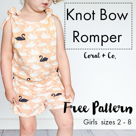 Knot Bow Romper pattern.