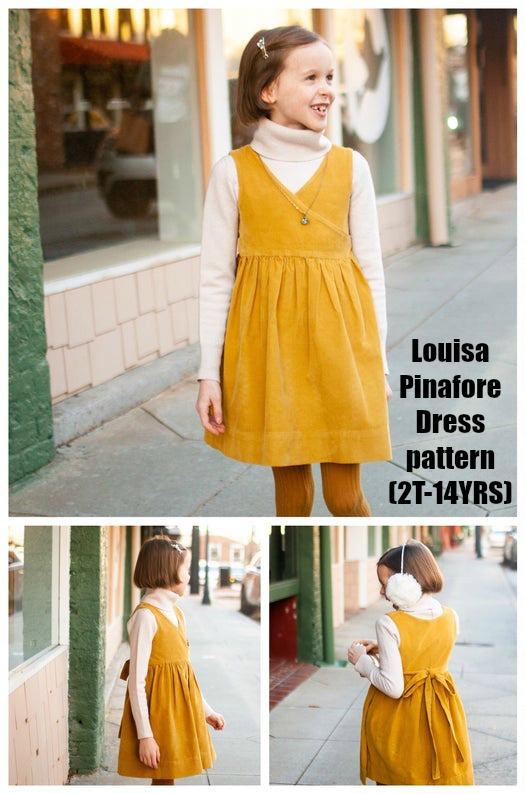 Louisa Pinafore Dress pattern (2T-14YRS)