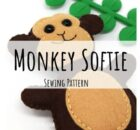 Mini Monkey Softie Toy Free Pattern & Tutorial.